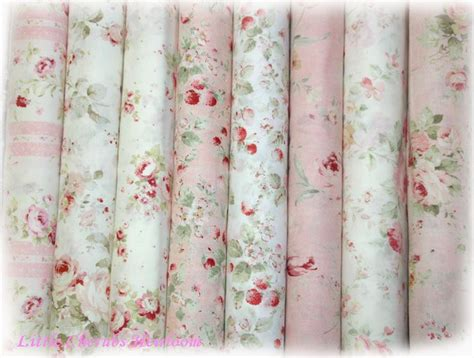 durham rose shabby chic quilt fabric