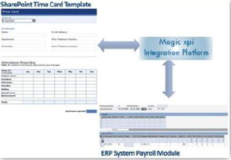Sharepoint Erp Template Sharepoint Timecard Template Para M 243 Dulo De Integra 231 227 O Erp Payoll Via Magic Xpi Flow