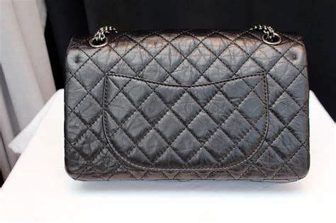 Chanel Quilted Bag Silver Chain by Black Quilted Washed Lambskin And Silver Chain 2 55 Chanel
