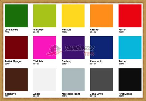interior design color chart ideas color chart wall color the right shades for your
