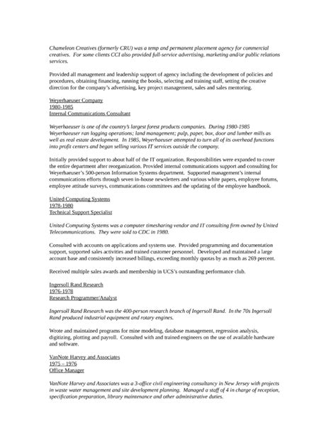 chronological recruiting manager resume template page 4