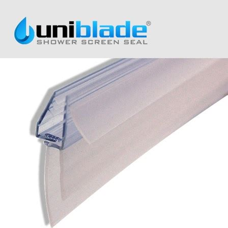 Uniblade Universal Shower Screen Seal For Straight Or Curved Shower Door Seal