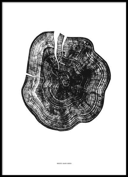 Poster Wood Poster Kayu 30x40 Abstract 541 black wood poster