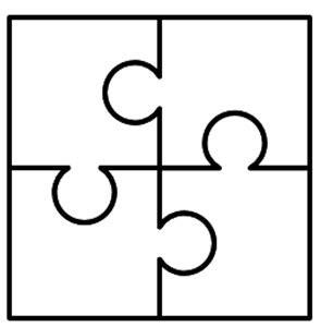 4 puzzle pieces template www pixshark com images