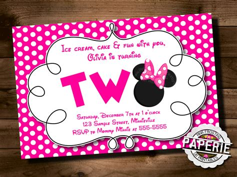Birthday Invitation Templates Minnie Mouse 2nd Birthday Invitations Easytygermke Com Minnie Mouse 2nd Birthday Invitations Template