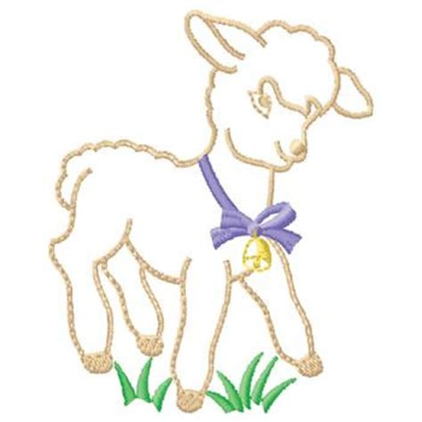 embroidery design lamb gunold embroidery design lamb 3 86 inches h x 3 11 inches w