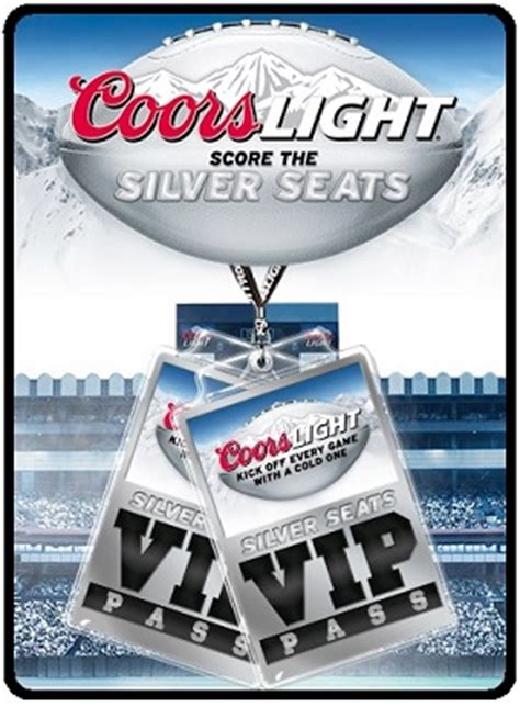 Coors Sweepstakes - thrifty momma ramblings coors light score the silver seats instant win and sweepstakes