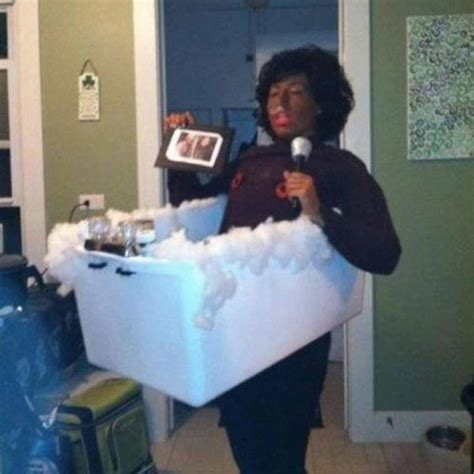 whitney houston bathtub brutally out there halloween costume ideas that are just