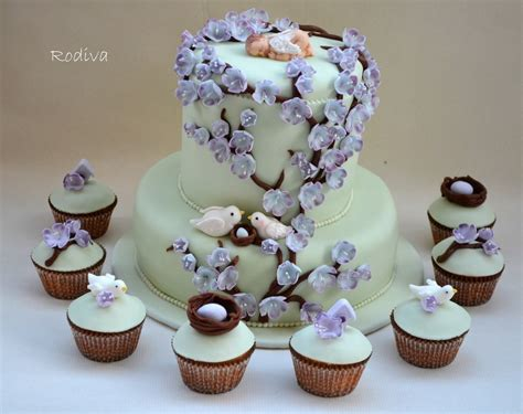 Lavender And Green Baby Shower by Lavender And Light Green Baby Shower Cake And Cupcakes