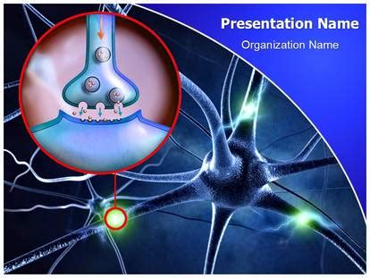 Free Neuron Synapse Medical Powerpoint Template For Medical Powerpoint Presentations Free Neurology Powerpoint Templates