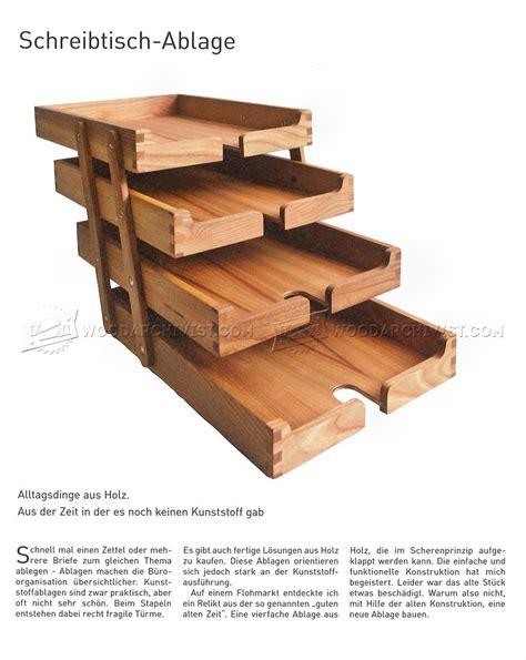 wood desk letter tray wooden desk tray plans woodarchivist
