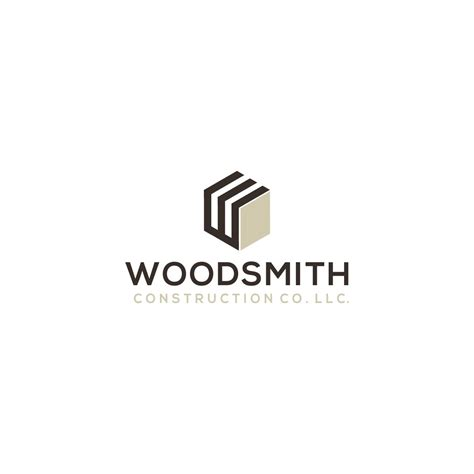 traditional masculine construction logo design for woodsmith construction co llc by