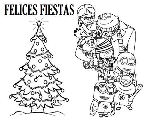 imagenes de navidad para colorear de los minions patricienta y sus mikos minions en navidad para colorear