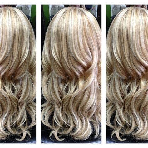 platinum blonde highlights with dark blond lowlights probably too light for me but i love the color and