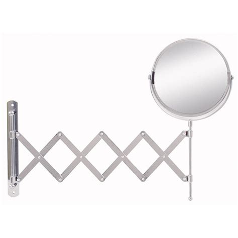 extendable magnifying bathroom mirror bathroom origins reversible extendable magnifying wall