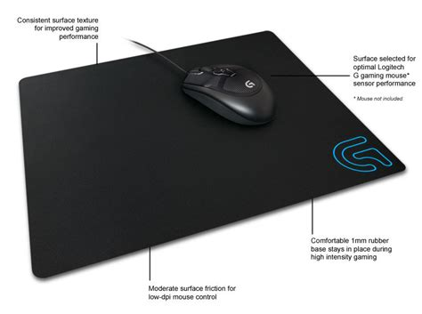 Mousepad Logitech G240 logitech g240 cloth gaming mouse pad for low dpi gaming computers accessories