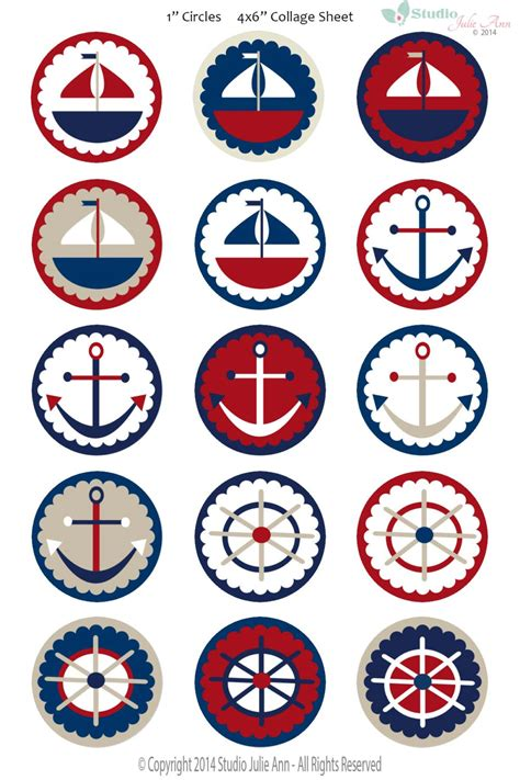 printable nautical images nautical sailing digital collage sheet sailboat anchor