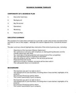 basic business plan template word business plan sle in word 10 exles in word