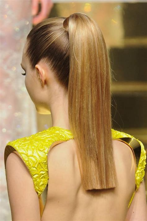 pony tail cut hottest couture spring 2012 beauty trends