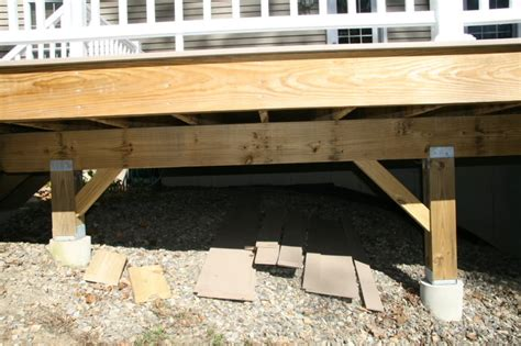 how should i build the concrete footings for my deck