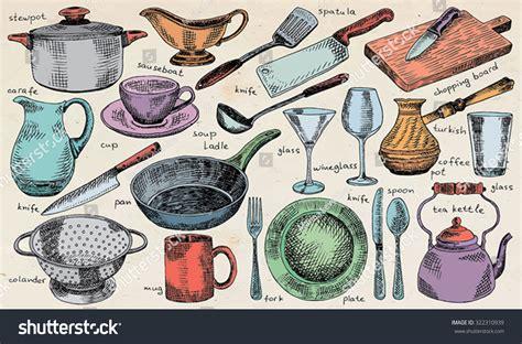 Plate Bowl Pot plate bowl stew pot pan colander mug fork spoon
