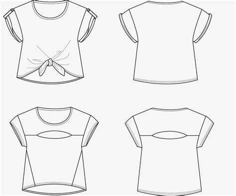 T Shirt Flat Sketches by 338 Best Fashion Technical Drawing Images On
