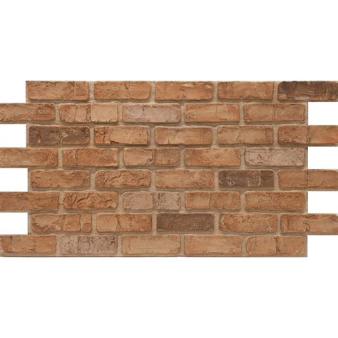 Home Depot Decorative Bricks by Urestone Weathered Orange 24 In X 46 3 8 In Faux Used