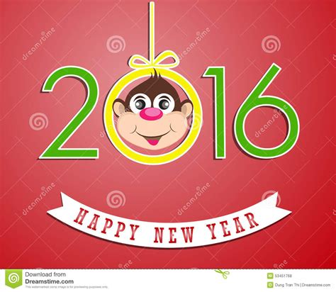 happy new year of the monkey images happy new year 2016 year of the monkey stock vector