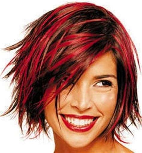 funky colors hairstyles with color streaks the best