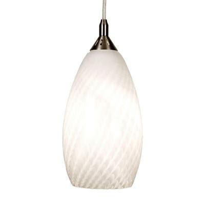 Home Decorators Collection 1 Light White Ceiling Pendant