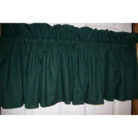 wide pocket valance curtain com hunter green valance 86 quot wide x 15 quot long 3