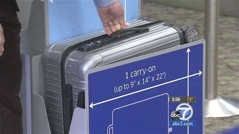 American Airlines Cabin Baggage Weight Limit by Carry On Luggage Sizes Confuse Travelers Abc7