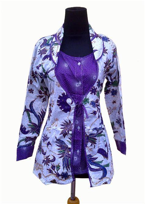 desain baju batik atasan lengan panjang 20 model baju batik atasan lengan panjang wanita modern