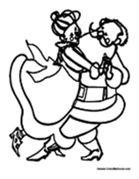 dancing santa coloring page santa coloring pages