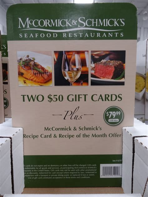 Discount Gift Cards Restaurants - mccormick and schmick s discount gift cards