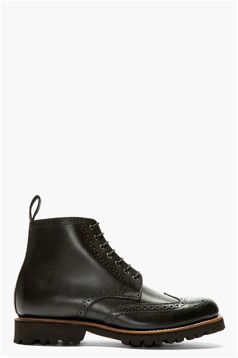 best black boots mens the best s shoes and footwear grenson black leather