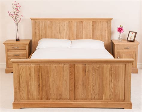 aspen oak bedroom furniture aspen solid oak wood 6ft super king size bed frame bedroom