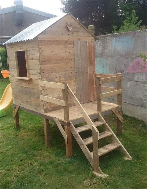 things to build in backyard pallet playhouse for kids friendly backyard