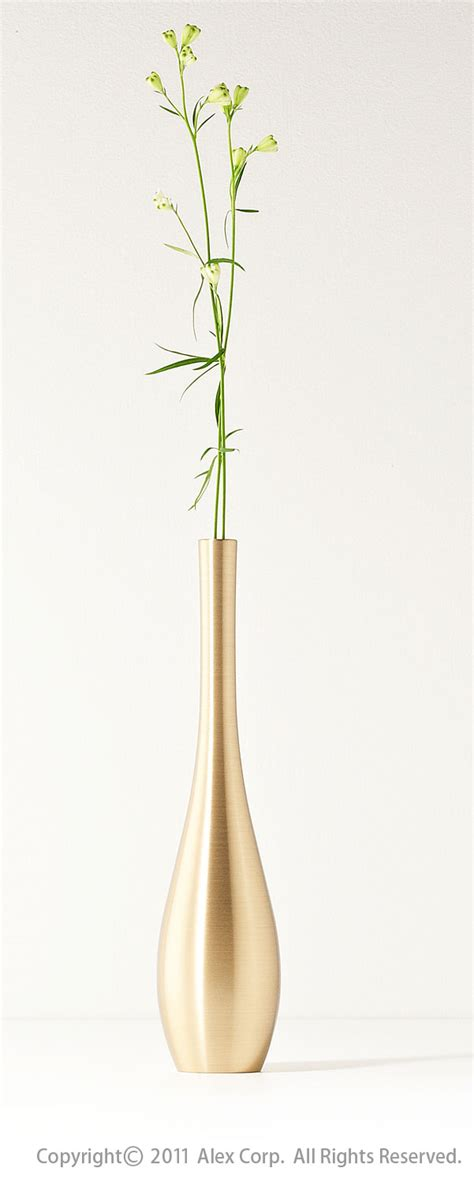 Single Stem Vase by Nousaku Brass Flower Vase Sorori Gold Products