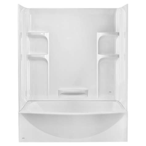 three piece bathtub ovation curved 3 piece bathtub wall set american standard