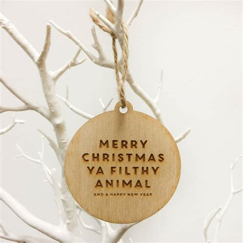 filthy animal wooden tree decoration  paperhappy notonthehighstreetcom