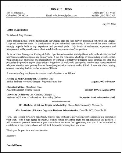 Download Free Application Letters Application Letter Template