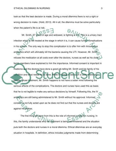 Moral Dilemma Essay by Ethical Dilemmas In Nursing Essay Exle Topics And Well Written Essays 3000 Words
