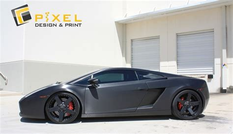 Lamborghini Gallardo Matte Black Lamborghini Gallardo Matte Black Wrap Vehicle Wrap