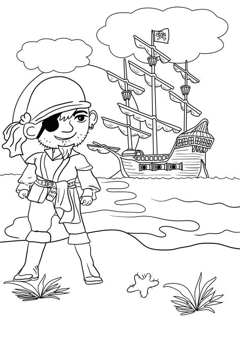 neverland map coloring page pirate colouring pages for kids in the playroom
