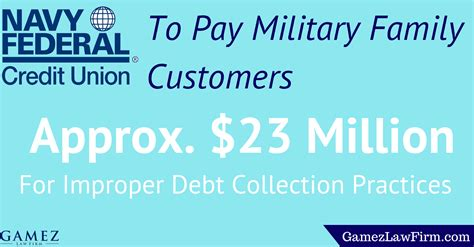 Navy Federal Credit Union Military - navy federal credit union to pay military family customers approximately 23 million