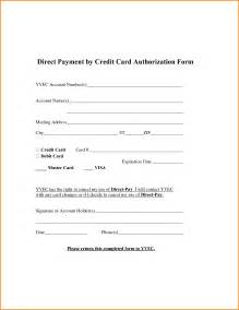 Authorization Letter Payment authorization letter credit card payment payment authorization form