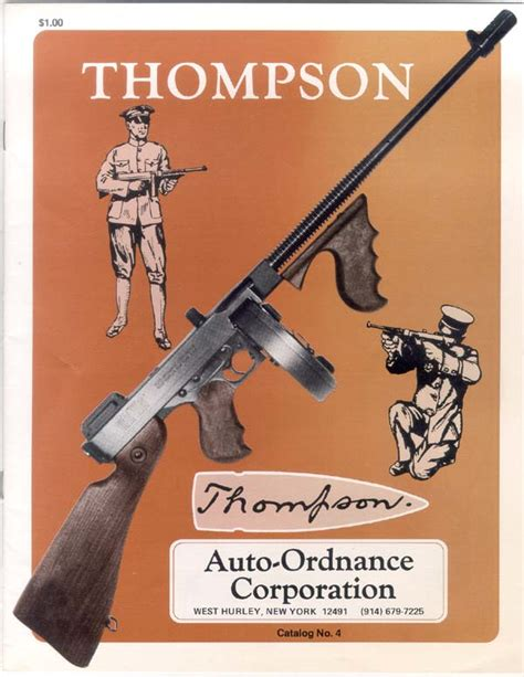 thompson and catalog west hurley auto ordnance catalogs thompson submachine