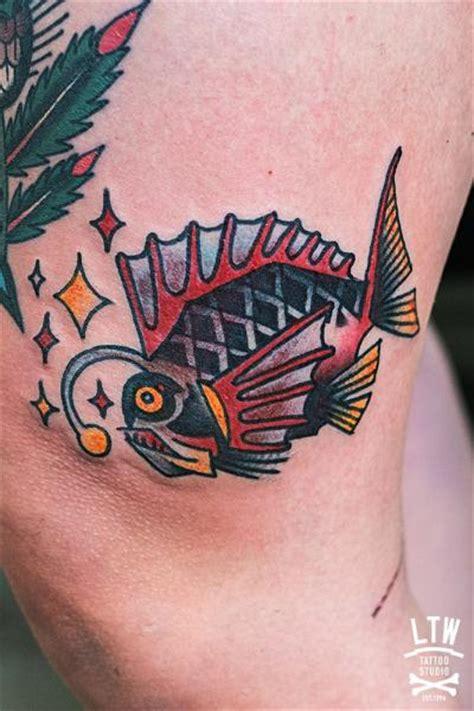 Tattoo Old School Fish | old school leg fish tattoo by lw tattoo