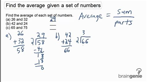 How Do You Find On 1 1 1 Find The Average Given A Set Of Numbers